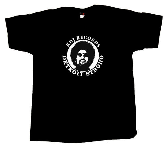 MOODYMANN - T-shirt KDJ Records Detroit Strong (MAHOGANI MUSIC)