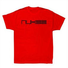 AUX 88 - T-shirt 'Aux 88' RED w/BLACK LOGO: Size LARGE