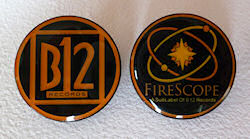 B12 Records / FIRESCOPE Enamel Badge Set