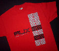 "AUX 88 - T-shirt ""Aux 88"" RED w/BLACK/GREY LOGO - size: LARGE"
