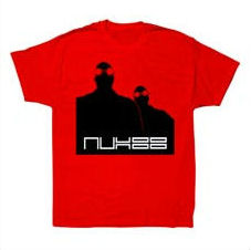 AUX 88 - T-shirt 'Mad Scientist' RED w/BLACK LOGO: Size LARGE