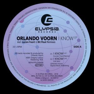 ORLANDO VOORN - I Know EP  (ELYPSIA)