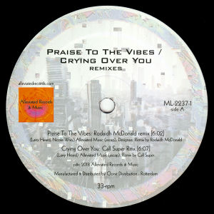 MR FINGERS - Praise to the Vibes/Crying Over You Remixes  (ALLEVIATED)