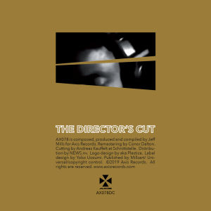 JEFF MILLS - The Director's Cut Chapter 4  (AXIS)