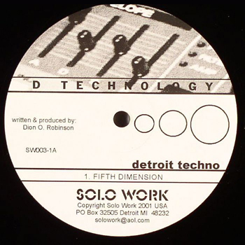 D TECHNOLOGY - Fifth Dimension  (SOLO WORK)